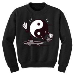 skater yin yang symbol logo skateboarding Youth Sweatshirt | Artistshot