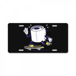 skater tissue roll toilet paper skateboarding License Plate | Artistshot