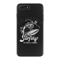 skeleton on surfing board 3 iPhone 7 Plus Case | Artistshot