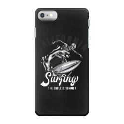 skeleton on surfing board 3 iPhone 7 Case | Artistshot