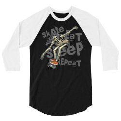 skeleton on the skateboard 1 3/4 Sleeve Shirt | Artistshot