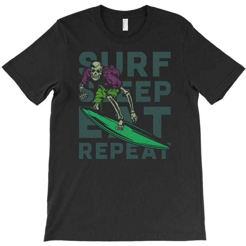 Skeleton On Surfing Board T-shirt | Artistshot