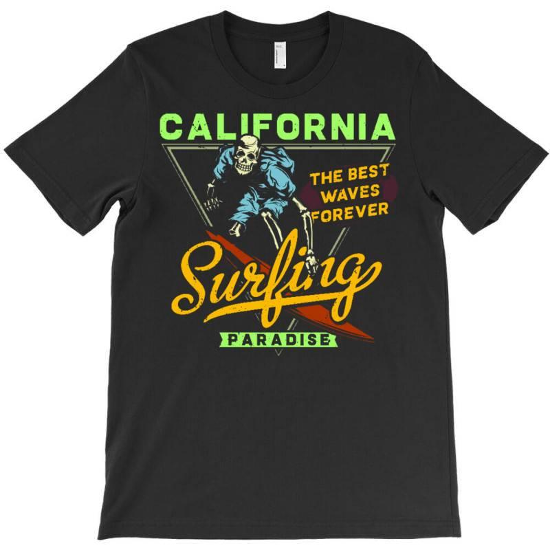 Skeleton On Surfing Board 2 T-shirt | Artistshot