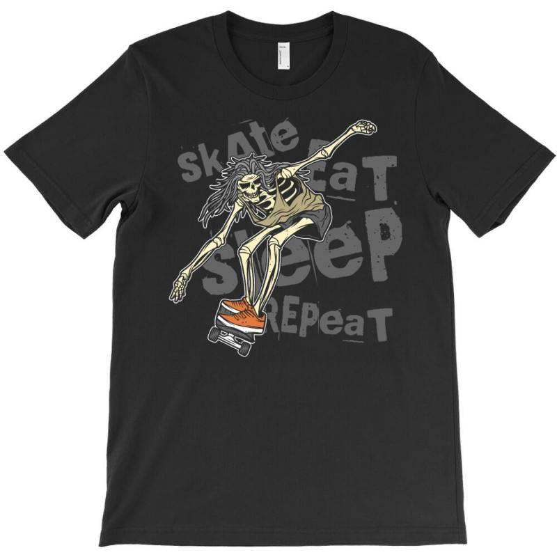 Skeleton On The Skateboard 1 T-shirt | Artistshot