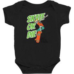 skeleton on the skateboard 4 Baby Bodysuit   Artistshot