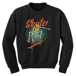 skeleton on the skateboard 6 Youth Sweatshirt | Artistshot