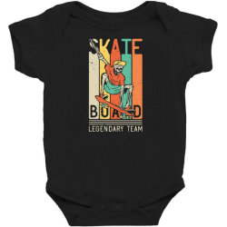 skeleton on the skateboard 9 Baby Bodysuit | Artistshot