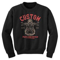 skeleton riding on the motorcycle 3 Youth Sweatshirt | Artistshot