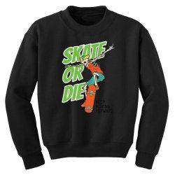 skeleton on the skateboard 4 Youth Sweatshirt   Artistshot