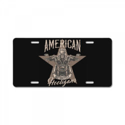 skeleton riding on the motorcycle 1 License Plate | Artistshot