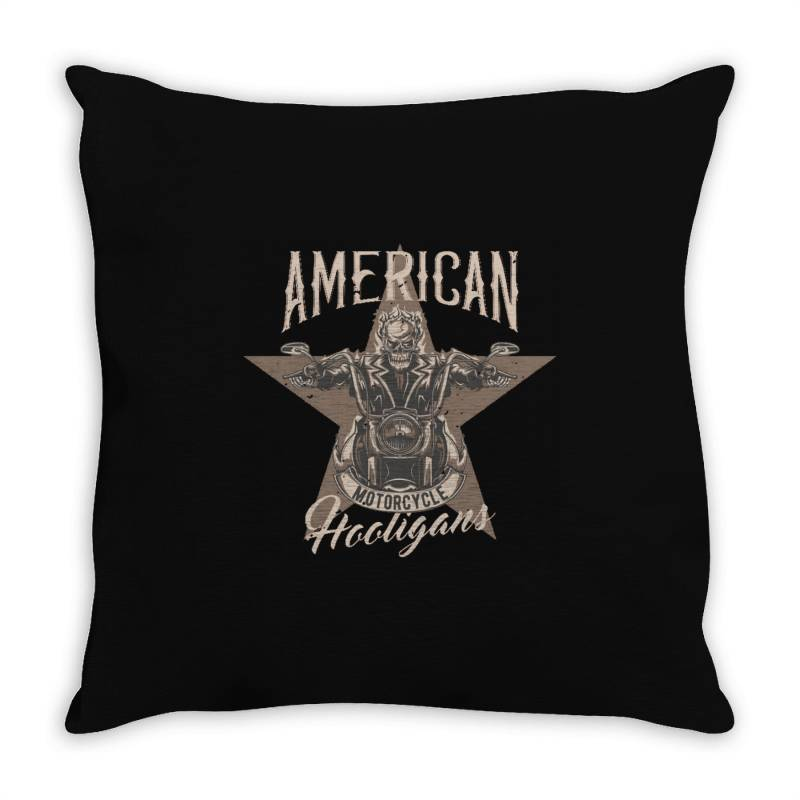 Skeleton Riding On The Motorcycle 1 Throw Pillow | Artistshot