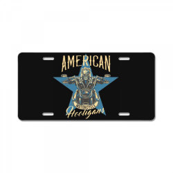 skeleton riding on the motorcycle 2 License Plate | Artistshot