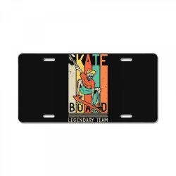 skeleton on the skateboard 9 License Plate | Artistshot