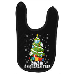 2020 oh quarantine christmas tree Baby Bibs | Artistshot