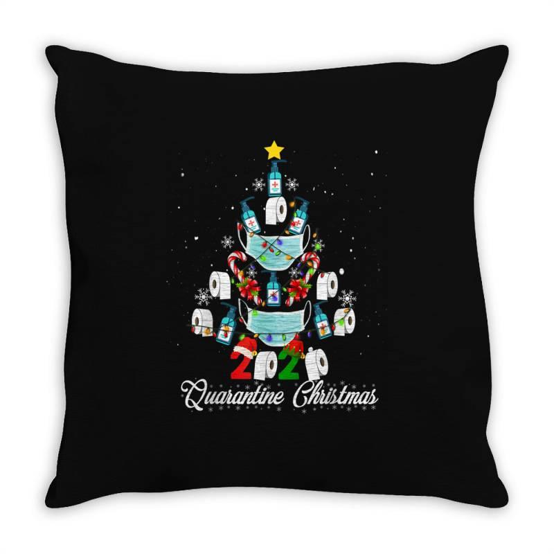 2020 Christmas Quarantine Family Matching Pajamas Xmas Throw Pillow | Artistshot