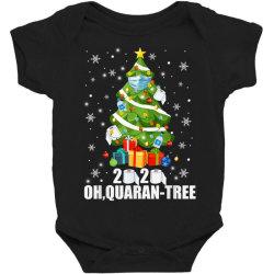 2020 oh quarantine christmas tree Baby Bodysuit | Artistshot