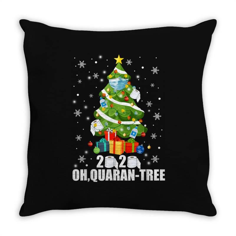 2020 Oh Quarantine Christmas Tree Throw Pillow   Artistshot