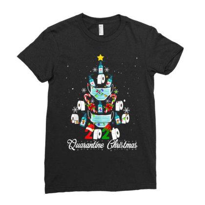 2020 Christmas Quarantine Family Matching Pajamas Xmas Ladies Fitted T-shirt Designed By Koopshawneen