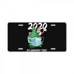 2020 quarantine christmas santa face mask License Plate | Artistshot