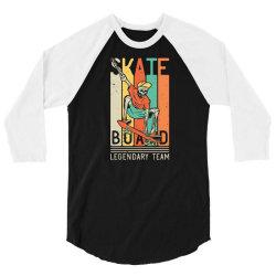 skeleton on the skateboard 9 3/4 Sleeve Shirt | Artistshot
