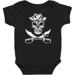 skull and swords Baby Bodysuit | Artistshot