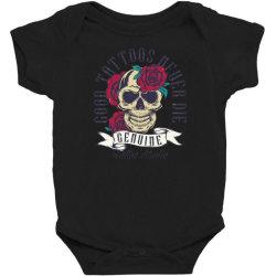 skull and roses Baby Bodysuit | Artistshot