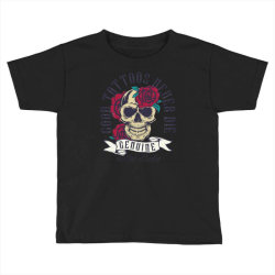 skull and roses Toddler T-shirt | Artistshot