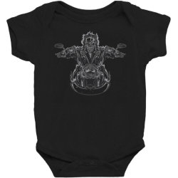skeleton riding on the motorcycle 4 Baby Bodysuit | Artistshot