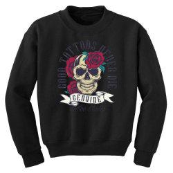 skull and roses Youth Sweatshirt | Artistshot