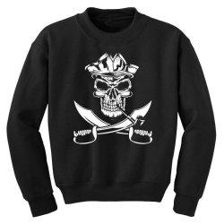skull and swords Youth Sweatshirt | Artistshot