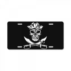 skull and swords License Plate | Artistshot