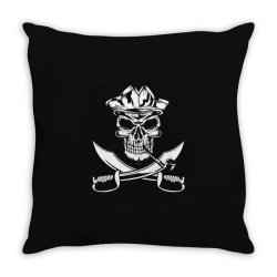 skull and swords Throw Pillow | Artistshot