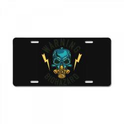 skull at mask License Plate | Artistshot