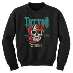 skull and flowers Youth Sweatshirt | Artistshot