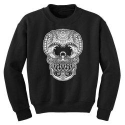 skull beach ocean Youth Sweatshirt | Artistshot