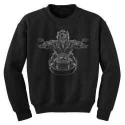 skeleton riding on the motorcycle 4 Youth Sweatshirt | Artistshot