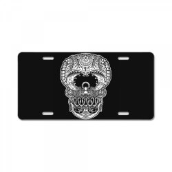 skull beach ocean License Plate | Artistshot