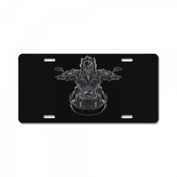 skeleton riding on the motorcycle 4 License Plate | Artistshot