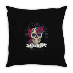 skull and roses Throw Pillow | Artistshot