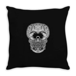skull beach ocean Throw Pillow | Artistshot