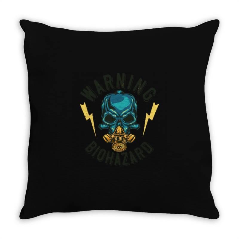 Skull At Mask Throw Pillow   Artistshot