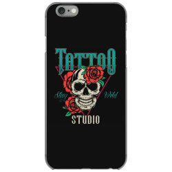skull and flowers iPhone 6/6s Case | Artistshot