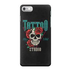 skull and flowers iPhone 7 Case | Artistshot