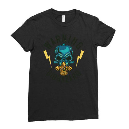 Skull At Mask Ladies Fitted T-shirt Designed By Wiraart