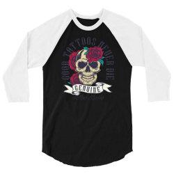 skull and roses 3/4 Sleeve Shirt | Artistshot