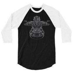 skeleton riding on the motorcycle 4 3/4 Sleeve Shirt | Artistshot