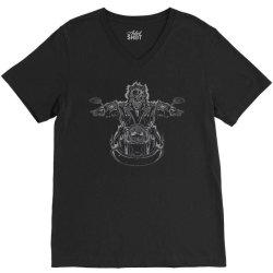 skeleton riding on the motorcycle 4 V-Neck Tee | Artistshot