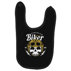skull biker wear helmet Baby Bibs | Artistshot