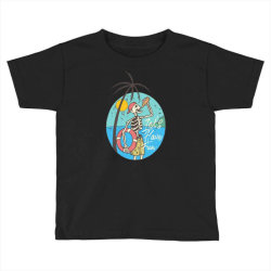 skull drink on the beach with sunset Toddler T-shirt | Artistshot