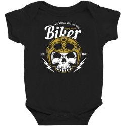 skull biker wear helmet Baby Bodysuit | Artistshot